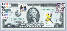 US Currency Paper Money 2 Dollar Bill 1976 F Unc Currency Collection Stamp Bird