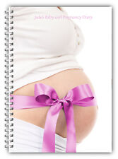 A5 Personalised Baby Girl Pregnancy Diary Maternity Planner Antenatal Journal