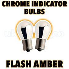 2 x PY21W BAU15s 581 CHROME/AMBER Indicator Car Bulb o