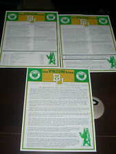 1982 Baylor Bears University Pride Line News Letter 3 issues