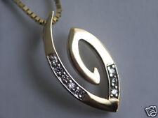 375 ECHT GOLD *** Zirkonia Anhänger Eva Symbol
