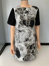 Tibi New Black Dress Skater A Line Size Us 10 Uk 14 100% Silk