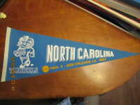 1982 North Carolina NCAA Basketball Pennant Michael Jordan championship