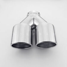 """Twin 3.5"""" Out Dual Wall 2.5"""" inlet Slanted Cut 304 Stainless Steel Exhaust Tip"""