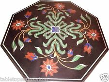 3'x3' Marble Dining Center Table Top Inlay Stone Marquetry Art Decor Furniture