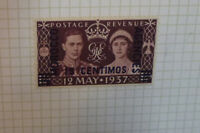 BRITISH COMMONWEALTH MOROCCO AGENCIES SPANISH CORONATION 1937 STAMP