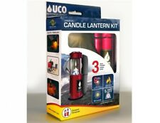 UCO Candle Lantern Set Neoprene Case Side Reflector anadosiert Red