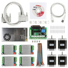 CNC 4-Axis Kit 3 with TB6600 Motor Driver Breakout Board Nema23 270 Oz-in Motor