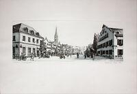 MANFRED SILLNER - Kelheim, Ludwigsplatz. Handsignierte Radierung, fertig gerahmt