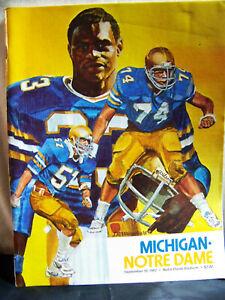 1982 Notre Dame Fighting Irish vs Michigan Football Sept 18, 1982