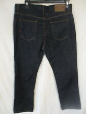 Tommy Hilfiger 100% Cotton 34 x 30 Dark Rinse Straight Fit Blue Jeans