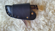 """"""" Quick-blade"""" Leather Knife Sheath for Buck 110 Knife, Handmade in the USA"""