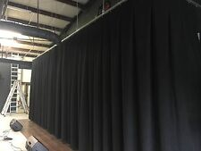 Stage Curtains 12'T x 35'W for schools and churches w/ 50% box pleats