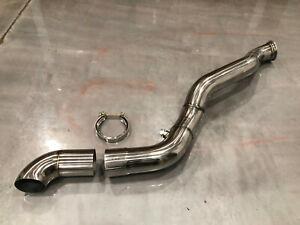 Stainless Steel Downpipe For Turbo Kit Silverado Sierra Vortec V8 4.8 5.3 6.0 62
