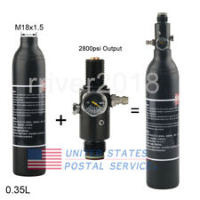 High Pressure 0.35L Paintball Tank Air Bottle With 2800Psi Output Valve M18x1.5