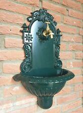 Waschbecken Wandbrunnen Antik Alu Ausgußbecken Garten Vintage grün 60 cm