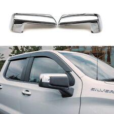 For 2019-2021 Chevy Silverado / GMC Sierra 1500 Chrome Top Half Mirror Covers