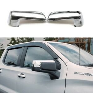 For 2019-2021 Chevy Silverado / GMC Sierra 1500 Chrome Top Half Mirror Covers