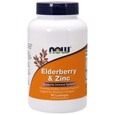 Now Foods ELDER-ZINC 90 LOZ Made in USA FREE SHIPPING