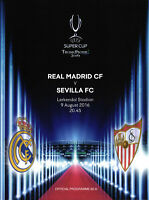 European Super Cup 09.08.2016 Real Madrid - FC Sevilla in Trondheim