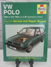 Haynes Workshop Manual VW Polo 1982 to Oct 1990 (up to H registration) Petrol