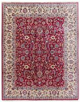 9 x 12 Hand Knotted Traditional Wool Red Blue Oriental Rug Carpet