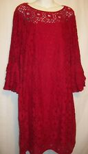 Womens size 18 dress, Tiana B. red, knee length, bell sleeve
