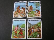 PAPUA NEW GUINEA, SCOTT # 332-331(4), COMPLETE SET 1971 PRIMARY INDUSTRIES MNH