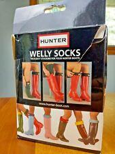HUNTER Welly Socks Kids Yellow Girls Boys UK 10-12 XS US 11-13 Boot Insert