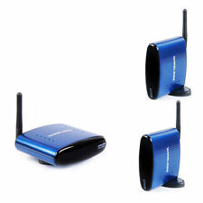 PAT-630 5.8GHz Wireless AV TV Transmitter 1 Sender & 2 Receivers With RCA Cable