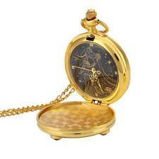 Anime Sailor Moon Vintage Golden Moon Prism Pendant Pocket Watch Necklace Chain