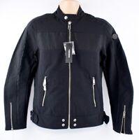 DIESEL Men's J-STREET Nylon Racer Biker Jacket, Black, size SMALL