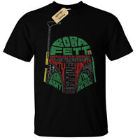 Fett T-Shirt boba Mens star gift wars helmet bounty hunter