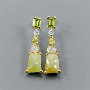 Fashion jewelry women Sapphire Earrings Silver 925 Sterling   /E46438