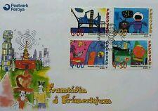 Faroe Island Cartoons 2000 Children Painting Drawing Draft Animation (stamp FDC)