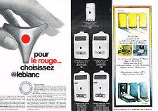 PUBLICITE ADVERTISING 094  1969  ELM LEBLANC  chaudières POINT ROUGE ( 2 pages)