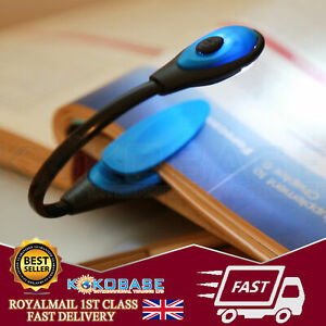 Mini LED Flexible Clip On Book Reading Bright Light Lamp Torch Kindle Laptop UK