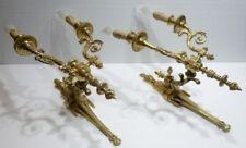 Paire de Magnifiques grandes APPLIQUES Anciennes du XIXème siècle en Bronze doré