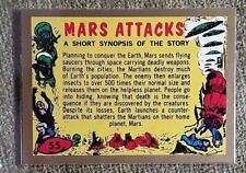 MARS ATTACKS 2012 TOPPS HERITAGE GOLD BOARDER CHECKLIST SUPER RARE.