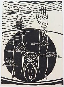 .1930s RARE LARGE BOOKPLATE by LITTLE KNOWN ARTIST JOSEPH SIEBERT.  EX MAGAZINE