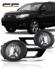 2008 2009 2010 Toyota Highlander Bumper Driving Clear Fog Lights Complete Kit