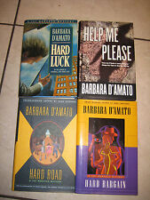 LOT OF 4 BARBARA D'AMATO MYSTERY(1 SIGNED BK) Hard Luck, Hard Road, Help Please