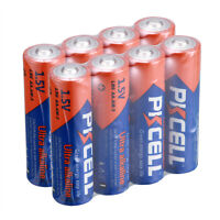 PKCELL 8pcs AA 2A 1.5V Alkaline Batteries EN91/MN1500/LR6/AM3 Battery