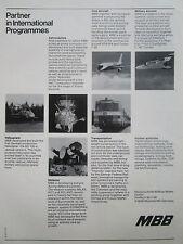 11/77 PUB MBB MESSERSCHMITT PANAVIA AIRBUS SATELLITE HELIOS ROLAND INTERCITY AD
