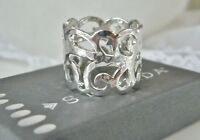 """NEW SILPADA Sterling Silver """"Eden"""" Ring Felt bag Box $79 FREE SHIPPING Size 8"""