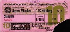 Ticket BL 78/79 FC Bayern München - 1. FC Nürnberg