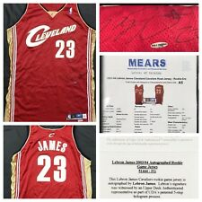 Lebron James Signed Autographed 2003 Game Worn Rookie Jersey Mears + UDA COA 17be2c15c