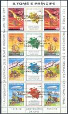 Sao Tome 1983 UPU. Space. Locomotives. Overpr., FULL SHEET. MNH Mi: 40.00 Euro
