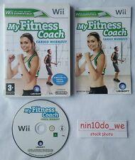 My Fitness Coach CARDIO WORKOUT (Wii) & U=Health+Fit+Exercise+Box+Jog=NEAR MINT✔