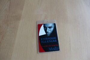 Enrique Iglesias - Laminated Backstage Pass - FREE POSTAGE -